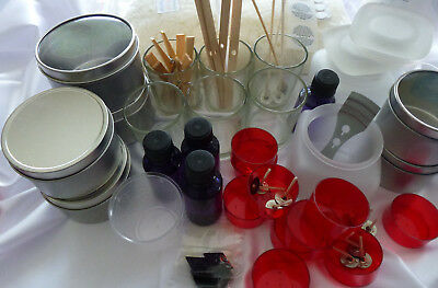 Large Soy Wax Kit 6 Silver Tins 6 Votive. All you need for professional results