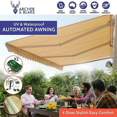 Automated Awning Motor UV Resistant Retractable Shade Roll 3 3.5 4 5M Tear Side