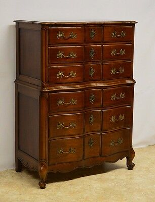 National Furniture French Provincial Style Fruitwood Chest of Drawers Dresser