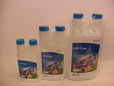NT Labs Foamclear - Anti-Foam Breaks Down Foam 250ml 500ml 1000ml Pond Treatment