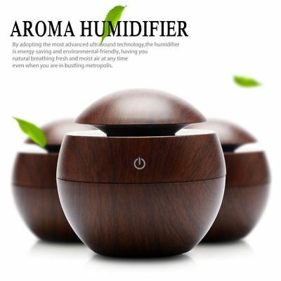 Mini USB Wooden Aromatherapy Humidifier Aroma Diffuser Air Purifier