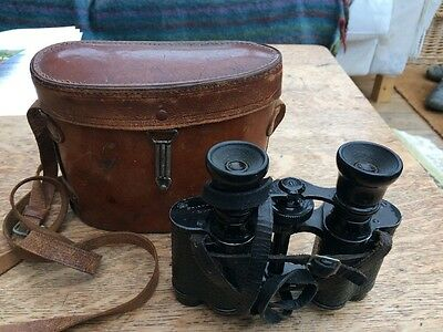 Vintage WW1 era Prism 8x West Riding Regiment Binoculars, with Case