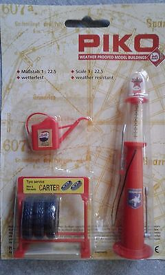 PIKO G Gauge Old Fashion Texaco Petrol Pump and Accessories #62286 ~ TS
