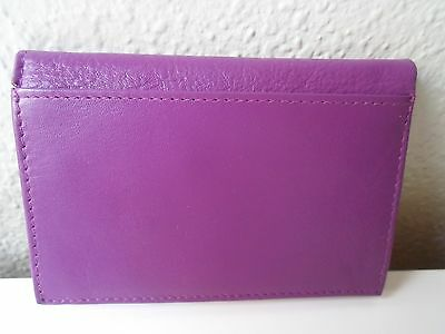 Barneys New York Credit Card/ID Case Raspberry Leather   NWOT