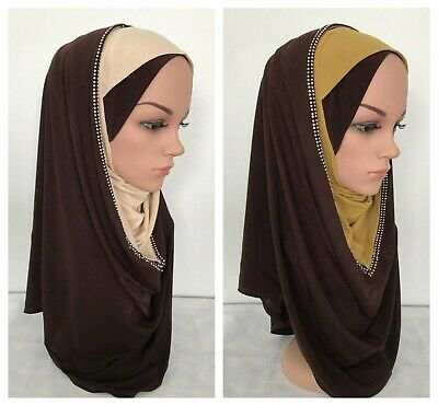 Al Amira Polyester PULL ON READY JERSEY Hijab One Piece Stretch Scarf 12 colors