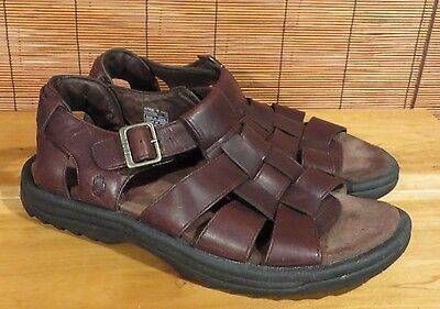 Mens Teva Sandals (Camden) Open Toe Fisherman Style Brown Leather 13 M