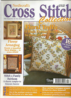 Cross Stitch Collections # 21 - Floral Trellis - Family Heirloom - Ginger Cat