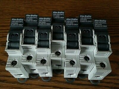 Lot of 7  Allen Bradley 1492-FB1C30-L 30A 600V