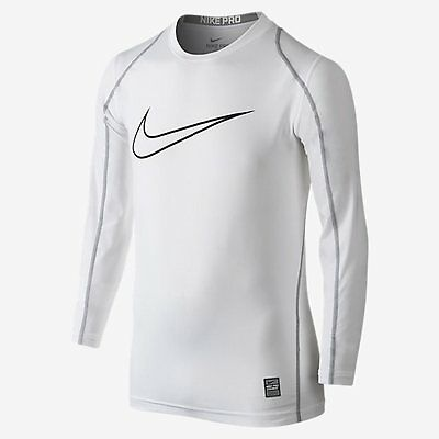 NEW! Nike Boys Youth Pro Cool Fitted Logo Sleeve Shirt Size XL