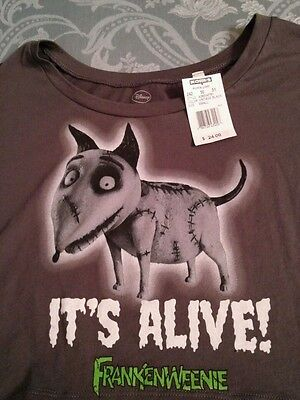 Nwt Tim Burton English Bull Terrier Frankenweenie Ladies Womens Shirt Small S