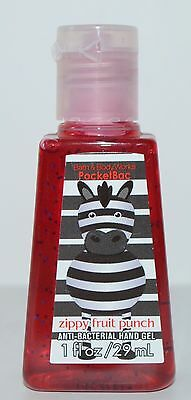 Bath & Body Works Zippy Fruit Punch Pocketbac Anti Bacterial Hand Gel Sanitizer