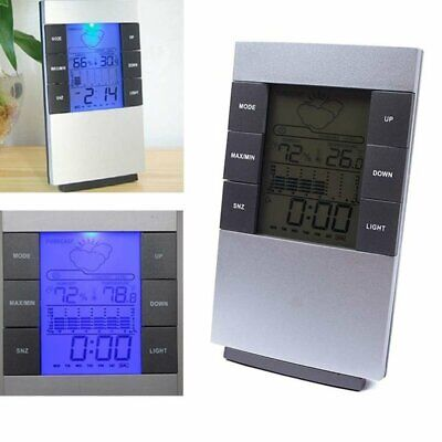 Wireless Digital Alarm Clock Weather Station with Humidity & Temperature UK