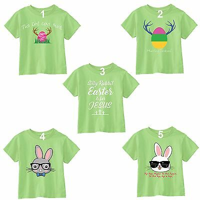 Easter T-shirt Bunny Rabbit Egg Hunting Season Jesus Shirt Peep Toddler Youth