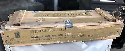 Us Army 90Mm Recoilless Rifle Us Wooden Ammo Crate Wood Box Project? 1963