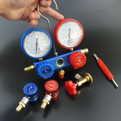 AC Refrigeration Kit A/C Manifold Gauge Set Air R12 R22 R134a 410a R404z Fine