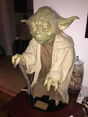Life Size Yoda Star Wars The Phantom Menace Great Condition