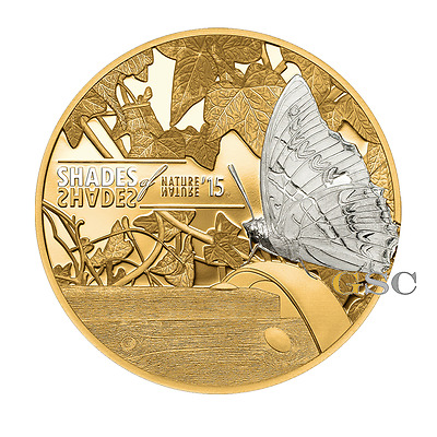 Cook Islands 2015 5$ Butterfly Shades of Nature series silver coin