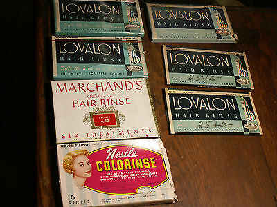 Vtg Hair Color Rinse Lot Of 7 Display Prop Beautician Hair Stylist Advertising