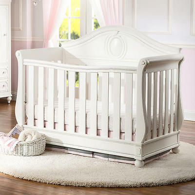 Disney Princess Magical Dreams 4-in-1 Convertible Crib by D - White Ambiance