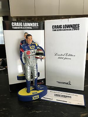 Craig Lowndes Figurine 2005 V8 Supercars Ford Team Betta Electrical 888 Rare
