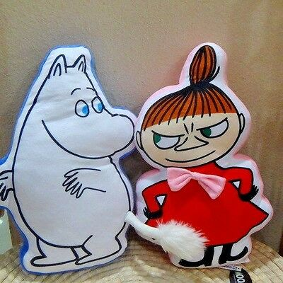 "New Moomin 19"" Plush stuffed Moomins & Little My Pillow Cushion Toy Doll 2PCS"