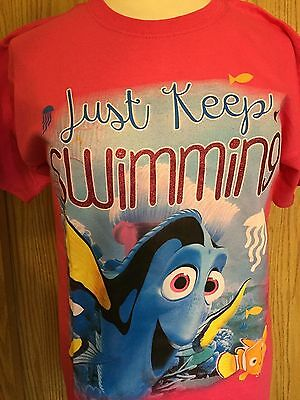 Kids Disney Pixar - Finding Dory -Pink T- Shirt Youth Size XL - New