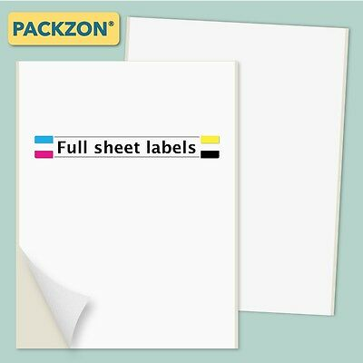 100 Shipping Labels Full Sheet 8.5x11 Self Adhesive PACKZON®