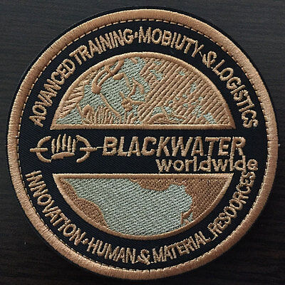 USA BLACKWATER American Military Tactical Morale Desert Badge Army Emblem Patch