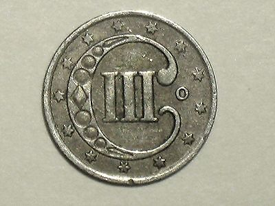 1851-O 3CS Three Cent Silver ~ Scarce New Orleans Minted Variety
