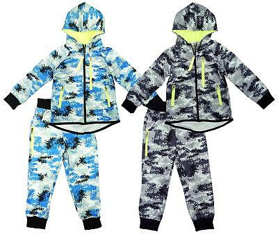Boys Tracksuit Army Camo Hooded Jog Set Pixel Outfit Baby 3 Months to 4 Years