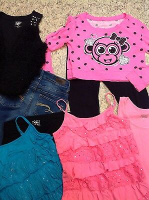 justice lot of 8, girls  clothes, size 12, leggings, shirts