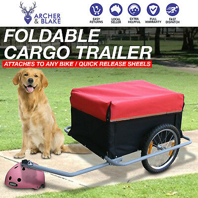 New Bike Foldable Cargo Dog Cat Pet Bicycle Trailer Stroller Luggage Pannier