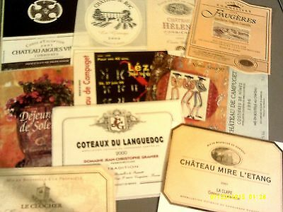 165 different labels from LANGUEDOC AOCs Lot # 6 (see list)