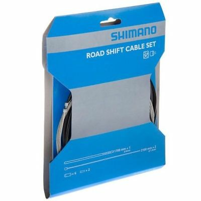 Shimano Road Bike Shift Inner and Outer Gear Cable Set Black