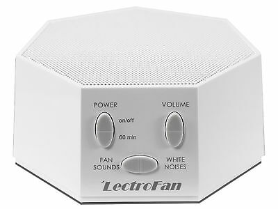 LECTROFAN - White Noise & Fan Sound Machine UK/EU/US Plug  **WHITE**