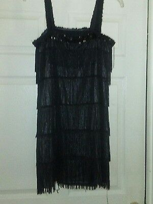 Black Flapper Dress with Frindges, and head pieces