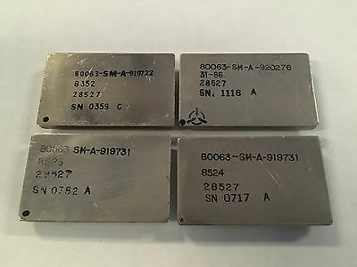 Lot of 4 scrap vintage metal CPU chip for gold recovery