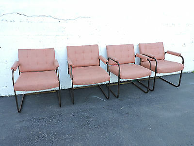 Set of 4 Tufted Mid Century Modern Dining Chairs 7038