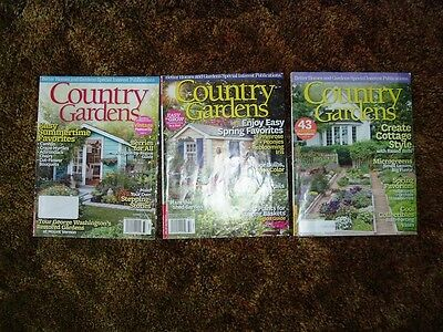 3 Country Gardens Magazine Back Issues 2013