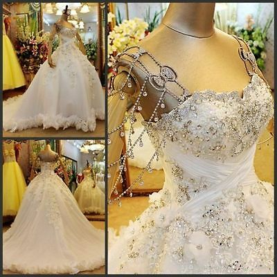 New White/ivory Wedding dress Bridal Gown custom size 6-8-10-12-14-16 18+