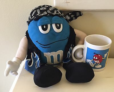 M&M Mug Cup and Plush Blue Pirate M&M