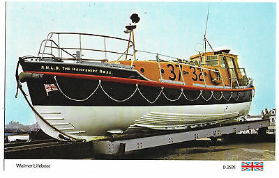 "Vintage Postcard.Walmer Lifeboat ""R.N.L.B.The Hampshire Rose."" Unused.Ref:73212"