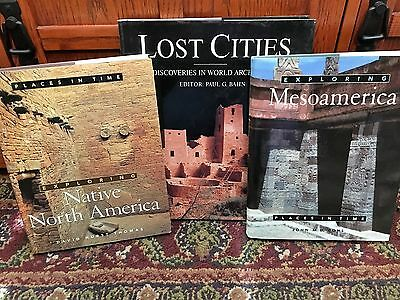 3  coffee table books on Pre Columbian America and other archaeological cites.