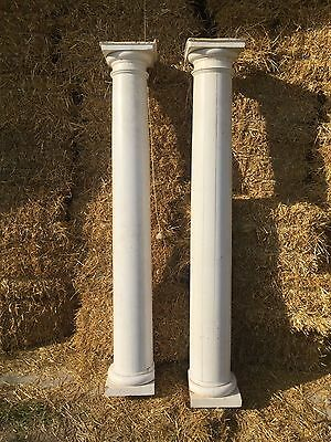 "Authentic 8' 3"" Wooden Porch Pillars Columns Posts Vintage Architectural Salvage"