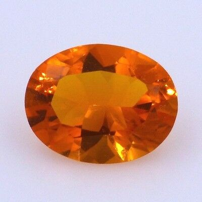 Electric Orange Oval Mexican Fire Opal- 1.17 ct