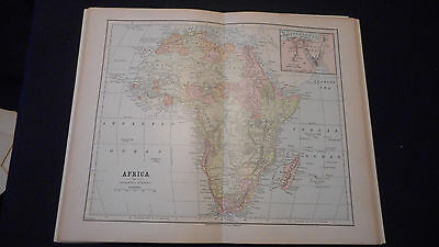 Africa Color Map 1883 Beautiful 10 1/2 X 13 See Others