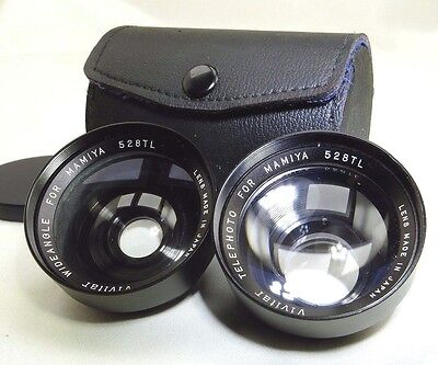 Vivitar AUX Wide Angle & Telephoto lens for Mamiya  528 TL 48mm f2.8 lens camera