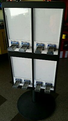 8 Column Sticker & Tattoo Bulk Vending Machine With Stand Slot Quarters Coin Op