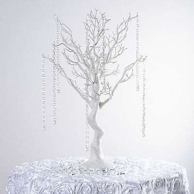 "30"" White MANZANITA TREE with Garlands Wedding Party CENTERPIECES Decorations"