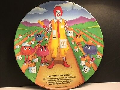"""Vintage 1989  Mcdonald's 9.5""""  The French Fry Garden Collector's Plate"""